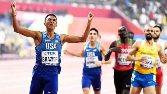 Brazier finish line